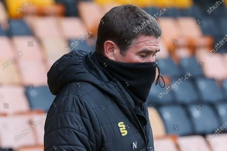 Mansfield Town Manager Nigel Clough during the EFL Sky Bet League 2 match between Port Vale and Mansfield Town at Vale Park, Burslem