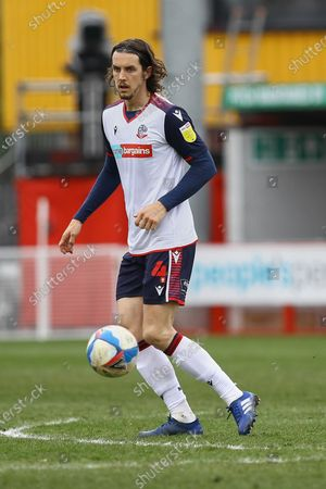 Stock Photo of Michael Jordan Williams of Bolton Wanderers during Crawley Town vs Bolton Wanderers, Sky Bet EFL League 2 Football at Broadfield Stadium on 8th May 2021