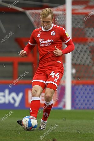 Stock Photo of Josh Wright of Crawley Town during Crawley Town vs Bolton Wanderers, Sky Bet EFL League 2 Football at Broadfield Stadium on 8th May 2021