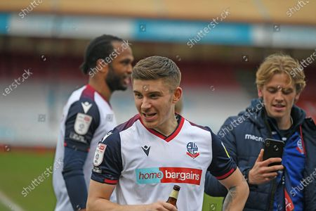 Bolton Wanderers Defender Declan John (28)  during the EFL Sky Bet League 2 match between Crawley Town and Bolton Wanderers at The People's Pension Stadium, Crawley