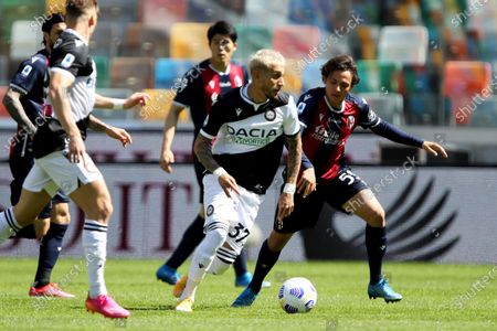 Editorial image of Udinese vs Bologna, Udine, Italy - 08 May 2021