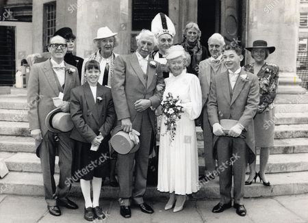 Stock Picture of June Spencer Arnold Peters And Rest Of Cast On Wedding Day Of Peggy Archer To Jack Woolley Staged Reception At Broadcasting House