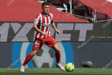 Kieran Trippier of Atletico Madrid in action during the La Liga Santander match between FC Barcelona and Atletico de Madrid at Camp Nou on May 8, 2021 in Barcelona, Spain. Sporting stadiums around Spain remain under strict restrictions due to the Coronavirus Pandemic as Government social distancing laws prohibit fans inside venues resulting in games being played behind closed doors.