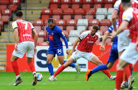 Editorial picture of Cheltenham Town v Harrogate Town, UK - 08 May 2021