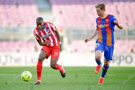 Stock Picture of Geoffrey Kondogbia and Frenkie de Jong of FC Barcelona