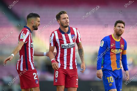 Yannick Ferreira Carrasco, Saúl Niguez of Atletico de Madridand Lionel Messi of FC Barcelona Lionel Messi of FC Barcelona