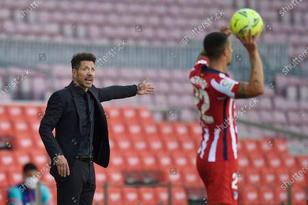 Stock Image of Atletico de Madrid head coach Diego Pablo Simeone