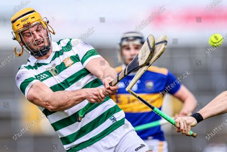 Stock Picture of Limerick vs Tipperary. Limerick's Tom Morrissey breaks the hurl of Tipperary's Jake Morris