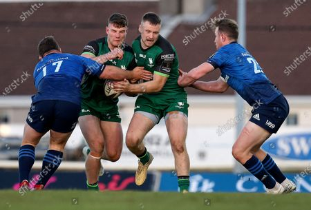 Connacht vs Leinster. Connacht's Peter Sullivan is tackled by Ed Byrne of Leinster