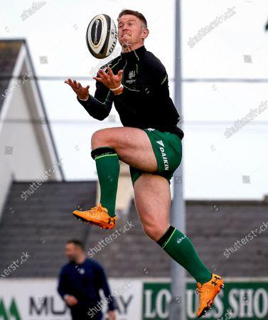Connacht vs Leinster. Connacht's Matt Healy during the warm-up