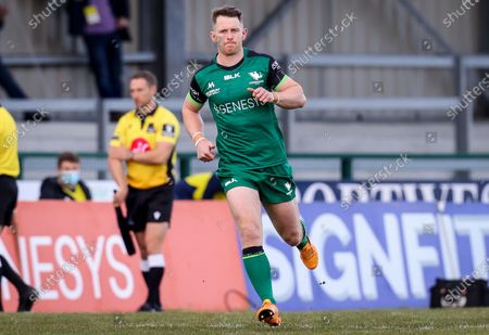 Stock Image of Connacht vs Leinster. Connacht's Matt Healy runs out to make his 150th appearance for Connacht