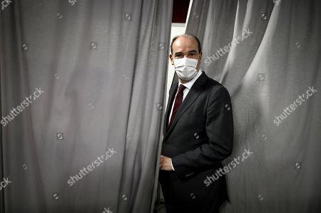 Jean Castex visits vaccination center at La Refense Arena, Paris