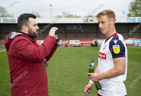 Eóin Doyle of Bolton Wanderers is interviewed by Ryan Grant of the EFL