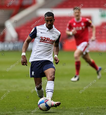 Scott Sinclair of Preston North End in action during the Sky Bet Championship match between Nottingham Forest and Preston North End at the City Ground, Nottingham on Saturday 8th May 2021.