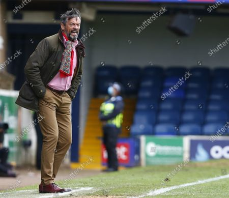 Phil Brown manager of Southend United  during Sky Bet League Two between Southend United and Newport Countyat Roots Hall Stadium , Southend, UK on 08th May 2021