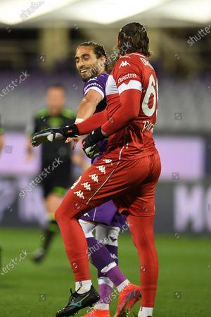 "Jose Martin Caceres Silva (Fiorentina)Bartlomiej Dragowski (Fiorentina)                                         during the Italian ""Serie A"" match between Fiorentina 2-0 Lazio  at  Artemio Franchi Stadium in Florence, Italy."