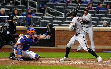 Arizona Diamondbacks' Tim Locastro (16) is hit by a pitch from the New York Mets during the fifth inning of a baseball game, in New York