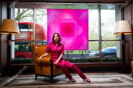 Artist Nat Bowen's 'Pink Diamond' artwork at 45 Park Lane Hotel