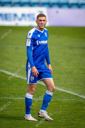 Gillingham FC midfielder Stuart O'Keefe (4) during the EFL Sky Bet League 1 match between Gillingham and Plymouth Argyle at the MEMS Priestfield Stadium, Gillingham