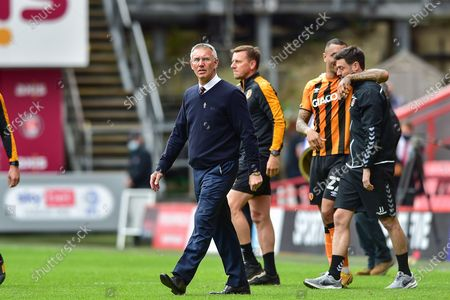 Charlton Athletic manager Nigel Adkins walks onto the pitch post match during the EFL Sky Bet League 1 match between Charlton Athletic and Hull City at The Valley, London