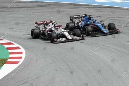 99 Antonio Giovinazzi (ita), Alfa Romeo Racing ORLEN C41, action 14 Fernando Alonso (spa), Alpine F1 A521, action