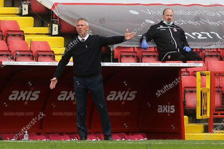Charlton Athletic Manager, Nigel Adkins during Charlton Athletic vs Hull City, Sky Bet EFL League 1 Football at The Valley on 9th May 2021