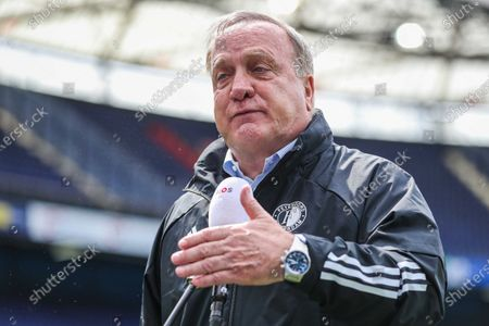 Feyenoord's coach Dick Advocaat before the Dutch Eredivisie soccer match between Feyenoord and Ajax in Rotterdam, the Netherlands, 09 May 2021.