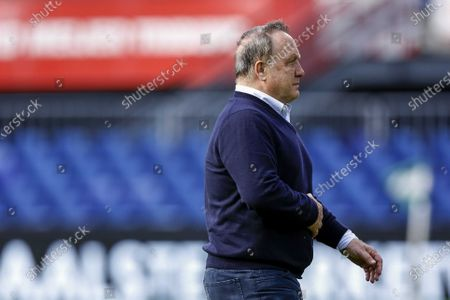 Feyenoord coach Dick Advocaat during the Dutch Eredivisie soccer match between Feyenoord and Ajax in Rotterdam, the Netherlands, 09 May 2021.