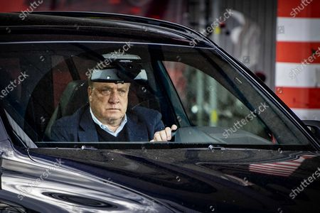 Feyenoord's coach Dick Advocaat leaves the stadium after the Dutch Eredivisie soccer match between Feyenoord and Ajax in Rotterdam, the Netherlands, 09 May 2021.