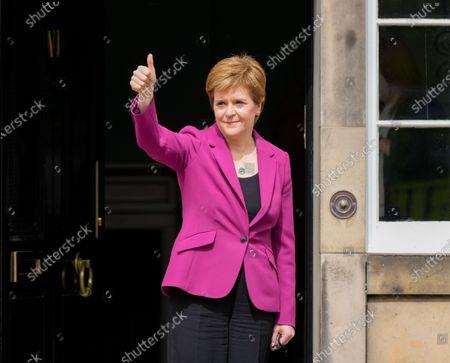 First Minster Nicola Sturgeon at Bute House, Edinburgh