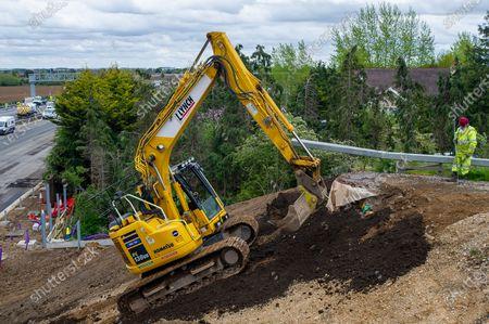 Editorial photo of M4 Closure, Smart Motorway Digital Upgrade, Taplow, Buckinghamshire, UK - 09 May 2021