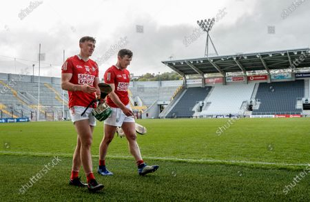 Cork vs Waterford. Cork's Robbie O'Flynn and Patrick Horgan after the game