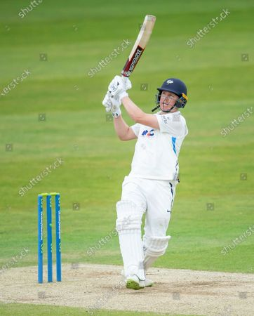 Stock Picture of Yorkshire's Gary Ballance hits out against Kent.