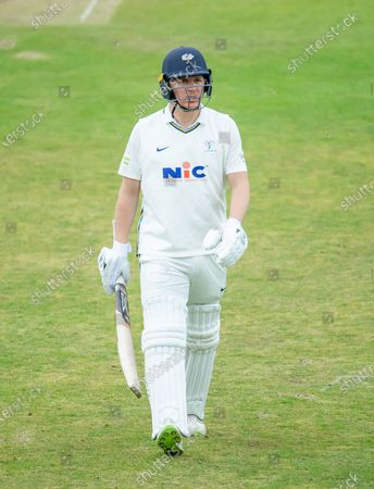 Yorkshire's Gary Ballance is dejected after being run out against Kent.