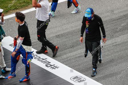 Fernando Alonso (spa), Alpine F1 A521, portrait starting grid, grille de depart,