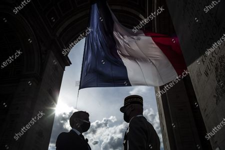 Editorial image of 76th anniversary of Ve-Day ceremony, Paris, France - 08 May 2021