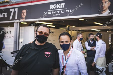 The former racing driver Felipe Massa with the boss of the Venturi team, Gildo PASTOR during the Formula Electric Race of Monaco, within the framework of the FIA FORMULA E championship