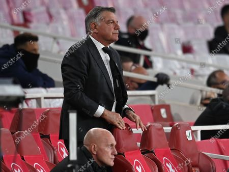 West Bromwich manager Sam Allardyce reacts after the English Premier League soccer match between Arsenal FC and West Bromwich Albion in London, Britain, 09 May 2021.
