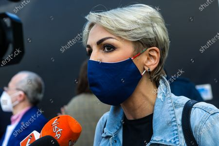 Francesca Pascale attends the Demonstration To Approve Zan DDL which aims to protect verbal and physical aggression towards homosexuals and disabled people, Milano on May 8, 202