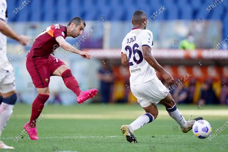 Henrikh Mkhitaryan of AS Roma during the Serie A match between AS Roma and FC Crotone at Stadio Olimpico, Rome, Italy on 9 May 2021