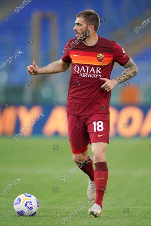 Stock Image of Davide Santon of AS Roma during the Serie A match between AS Roma and FC Crotone at Stadio Olimpico, Rome, Italy on 9 May 2021