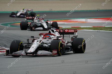 Kimi Raikkonen (END #7), Alfa Romeo Racing ORLEN, Antonio Giovinazzi (ITA #99), Alfa Romeo Racing ORLEN, Mick Schumacher (DEU #47), Haas F1 Team
