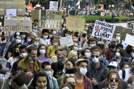 """Editorial picture of """"After March"""" climate rally, Paris, France - 09 May 2021"""