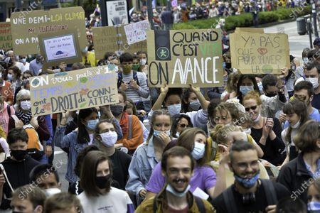 """Editorial photo of """"After March"""" climate rally, Paris, France - 09 May 2021"""