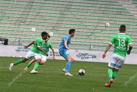 Editorial photo of AS Saint-Etienne v Olympique de Marseille, French L1, Saint Stephen, France - 09 May 2021