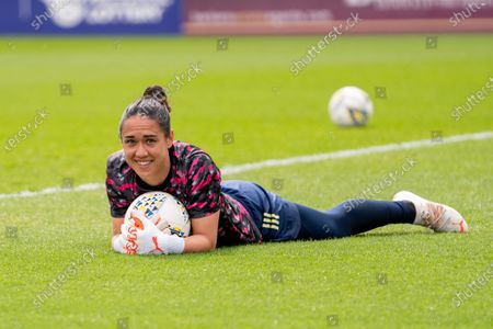 Stock Image of Manuela Zinsberger (1 Arsenal) in the warm up