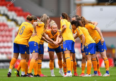 Editorial image of Manchester United v Everton, Womens Super League, Leigh Sports Village, Leigh, UK - 09 May 2021