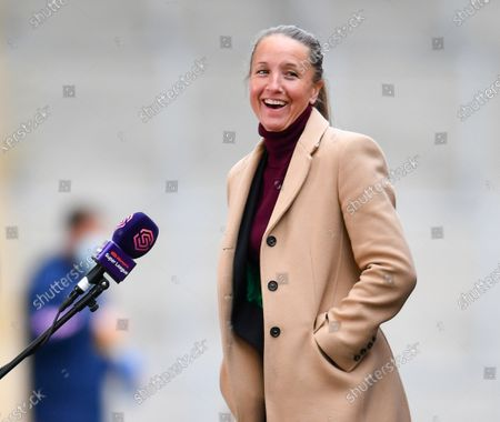 Casey Stoney (Manchester United Manager) is interviewed