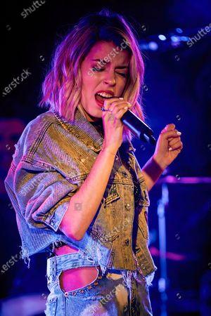 Stock Image of Nerea Rodriguez performs at Palacio de la Prensa