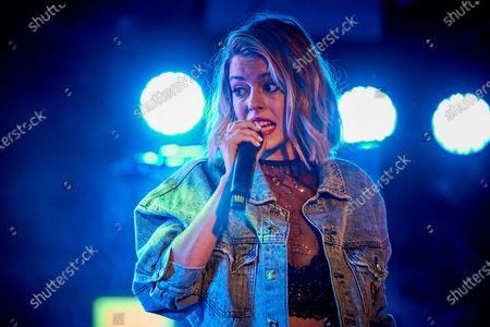 Stock Picture of Nerea Rodriguez performs at Palacio de la Prensa